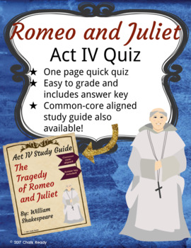 Romeo and Juliet Act 4 Quiz