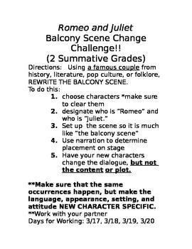 Romeo and Juliet Balcony Scene Challenge