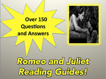 Romeo and Juliet Bundle Reading Guides