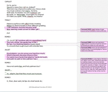 Romeo and Juliet Common Core Annotated Text – Party Scene