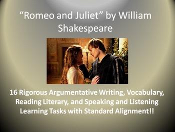 Romeo and Juliet Common Core Unit Learning Tasks - 16 Rigo