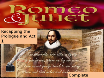Romeo and Juliet Prologue and Act 1 lesson