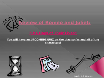 Romeo and Juliet - Review of Play