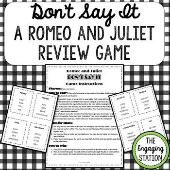 Romeo and Juliet Taboo-Inspired Review Game