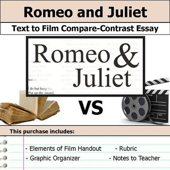 Romeo and Juliet - Text to Film Essay Bundle