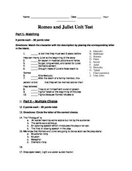 Romeo and Juliet Unit Test