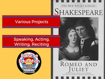 Romeo and Juliet Various Project Ideas