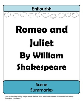 Romeo and Juliet by William Shakespeare Scene Summaries