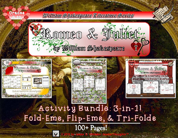 Romeo and Juliet by William Shakespeare Interactive Activi