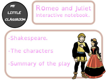 Romeo and Juliet interactive notebook extract