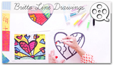 Romero Britto Line Drawings