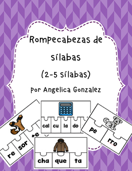 Rompecabezas de 2-5 sílabas (SPANISH syllable puzzles)