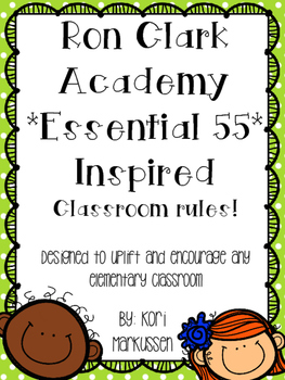 Ron Clark Academy Essential 55 inspired *Be Significant* rules 8