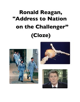 "Ronald Reagan's ""Address to the Nation on the Challenger"""