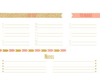 Room 016 | To Do List, To Make, & Notes Planner Version 2