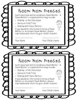 Room Mom Request FREEBIE