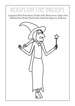 Room on the Broom Witch Vocabulary Match Printable