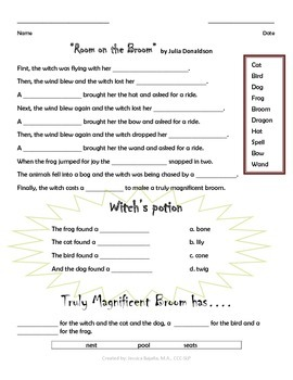"""""""Room on the Broom""""_Advanced Review Worksheet"""