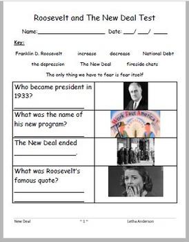 Roosevelt New Deal VAAP VUS.10 High School HS-E 28 (Help f