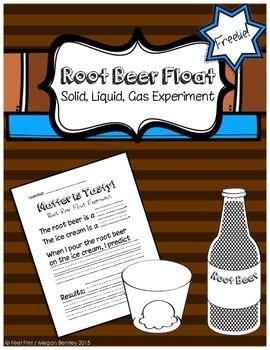 Root Beer Float Solid, Liquid, Gas Experiment FREEBIE