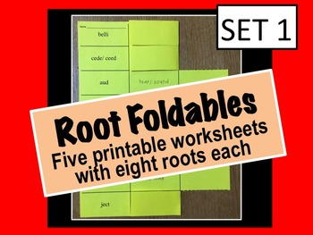 Root Foldable (40 Roots and Meanings)