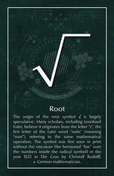 Root - Math Poster