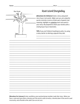 Root Word Stories