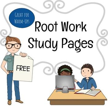 Root Word Study  Worksheet