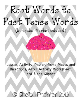 Root Words & Past Tense - Center, Activity, Game, Lesson,