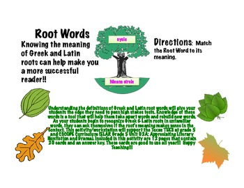 Root Words! They will make your students more successful o
