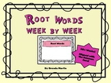 Root Words Week to Week