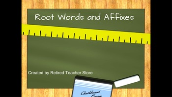 Root Words and Affixes Lesson and Practice