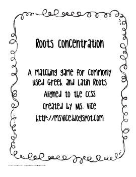 Roots Concentration, CCSS