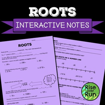 Square Roots: Guided Notes