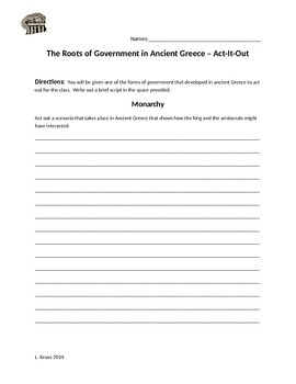 Roots of Government in Ancient Greece - Act It Out!
