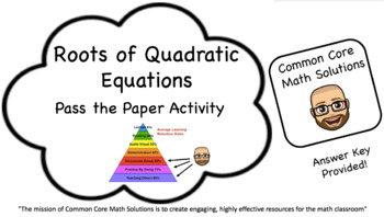 Roots of Quadratic Equations – Pass the Paper Cooperative