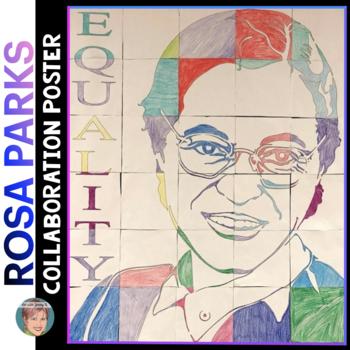 Rosa Parks Collaboration Portrait Poster - Great Black His