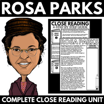 Rosa Parks - Black History Month Unit Information and Rese