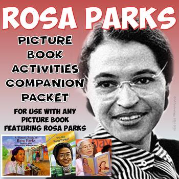 Rosa Parks Picture Book Reading Activities Companion Bundle