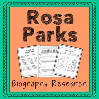 Rosa Parks Biography Research, Civil Rights, Black History Month