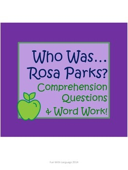 "Rosa Parks Biography by McDonough ""Who Was..."" Comprehensi"