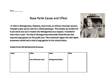 Rosa Parks Cause and Effect