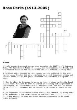 Rosa Parks Crossword