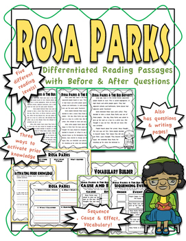 Rosa Parks Differentiated Passages