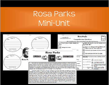 Rosa Parks-Main Idea, KWL Chart, Reading Comprehension
