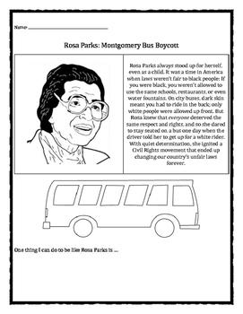 Black History Month: Rosa Parks, Montgomery Bus Boycott