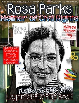 """ROSA PARKS BIOGRAPHY """"MOTHER OF CIVIL RIGHTS,"""" FLIP BOOK"""