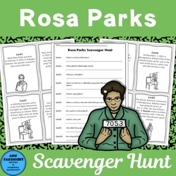 Rosa Parks Scavenger Hunt + posters