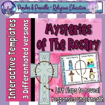 The Rosary ~ Mysteries of The Rosary Interactive Worksheet