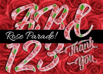 """Rose Parade Alphabet! - 300 DPI - PDF & PNGs - 2.75"""" High"""
